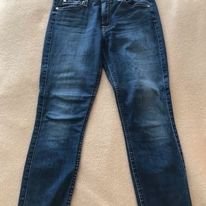 7 For Mankind Blair Ankle Skinny with Frayed Edge